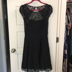ABS black lace cocktail dress